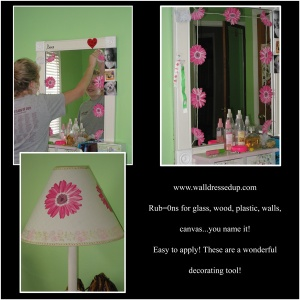 Gerber Daisy Mural Mirror and Lampshade!