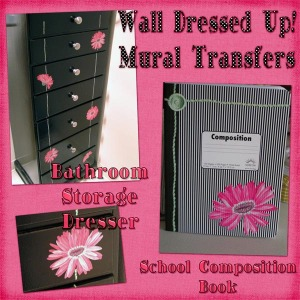 Gerber Daisy Mural Transfer on furniture and more!