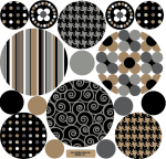 Black-brown-grey-dots