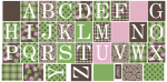 Brown-pink-green-alphabet