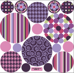 Pink and Purple Movable Mural Dots