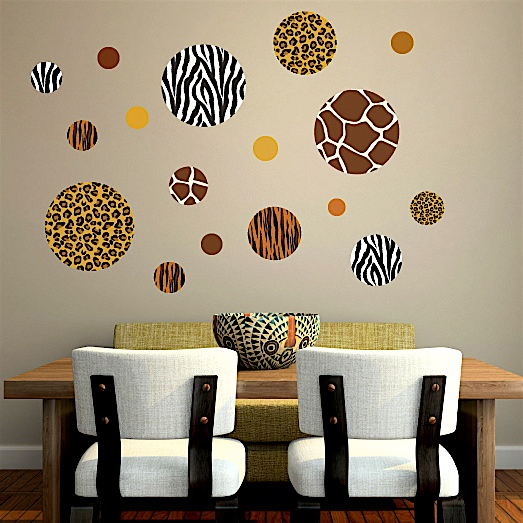 We have a mixed animal print ... & Go WILD With Animal Print Wall Decals! u2013 Wall Dressed Up