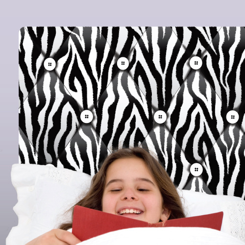 Zebra Headboard Wall Decal